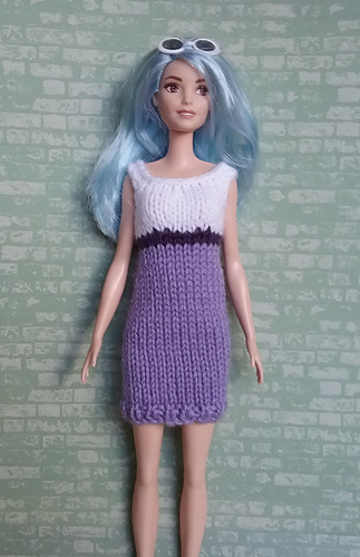 Ravelry Curvy Barbie Knit Dress Pattern By Linda Mary
