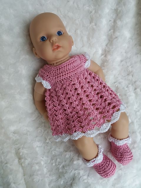 Ravelry Baby Annabell Dress Booties Pattern By Linda Mary