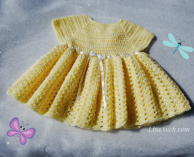 Ravelry Easy Baby Dress Crochet Pattern Pattern By Lisaauch