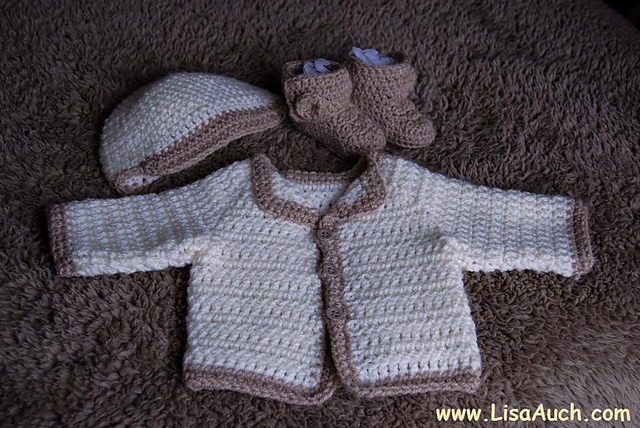 1c051e814 patterns > Crochet Patterns and Designs. > Megans Easy Crochet Baby Cardigan