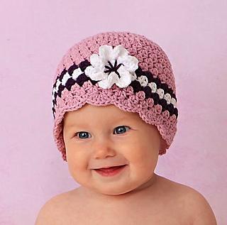 c5169709835 Ravelry  Girl Cloche Hat With Flower  4 pattern by Lisa Corinne Crochet