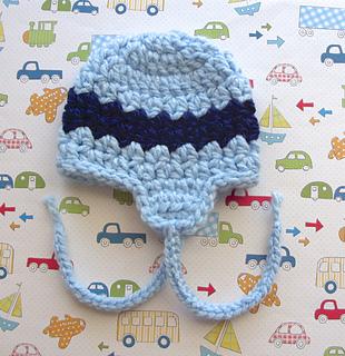 9854327eb28 Ravelry  Boy s Rick Rack Stripe Earflap Hat  30 pattern by Lisa Corinne  Crochet