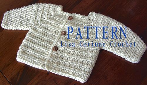 9d553da9635 Ravelry  Baby Boy Sweater Jacket  33 pattern by Lisa Corinne Crochet