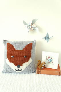 Ravelry: Fenton the Fox Cushion pattern by Little Doolally