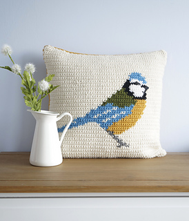 Ravelry: Blue Tit Cushion Pattern By Little Doolally