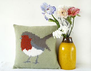 Ravelry: Robin Cushion Pattern By Little Doolally