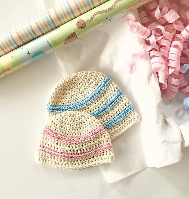 5f346699eb3 Ravelry  Sweet Stripes Baby Hat pattern by Angela Plunkett