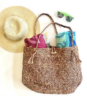 d6f4eabb27e4c Ravelry  Beach Bound Straw Bag pattern by Angela Plunkett