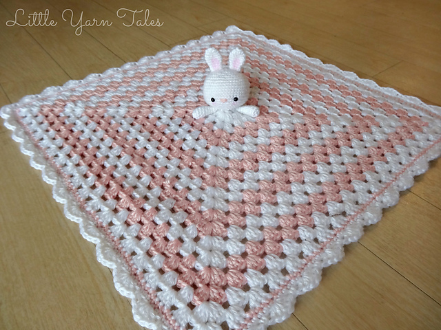 Free Amigurumi Bunny Pattern : Ravelry: bunny for bunny lovey security blanket pattern by elysia