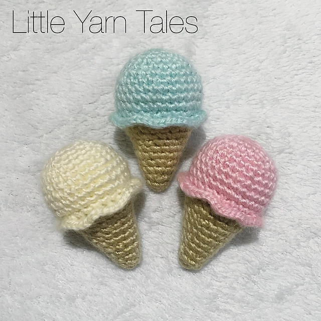 Ravelry Crochet Ice Cream Pattern By Elysia Mcwatters