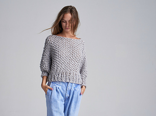 Ravelry: Cotton Super Cropped Sweater pattern by Loopy Mango