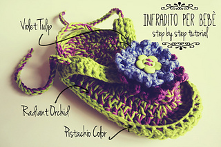Ravelry Pattern Uncinetto Infradito Bebe Step By Step Tutorial
