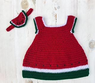 8ec3b865ef22 Ravelry: Watermelon Dress & Headband pattern by Melissa Hassler
