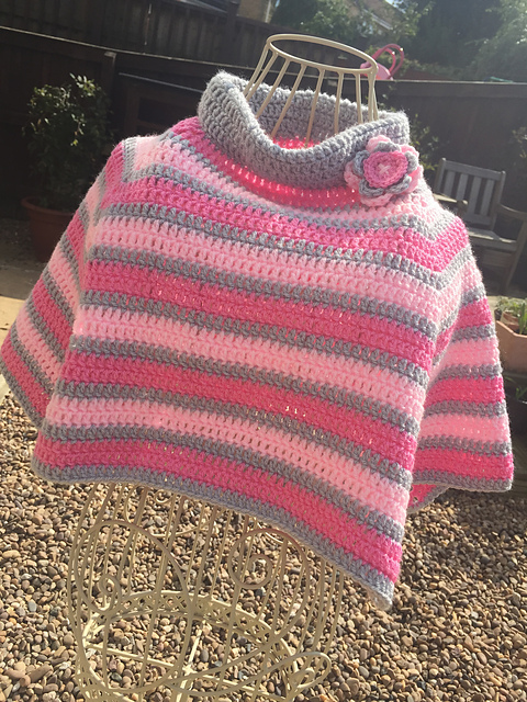 Ravelry Little Girl Poncho Pattern By Vicky Coleman Beauteous Crochet Poncho Pattern Ravelry