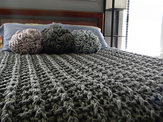 Ravelry Giant Super Chunky Knit Blanket Pattern By