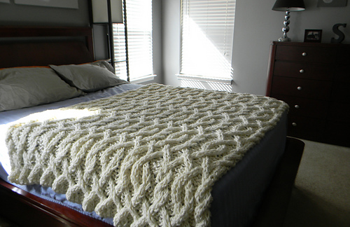 Ravelry Cable Me Crazy Chunky Cable Knit Blanket Pattern By