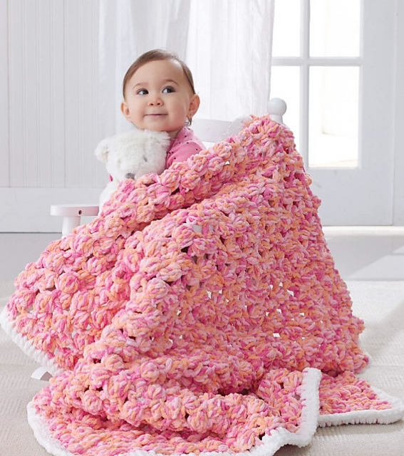 Ravelry Baby Bobble Blanket Pattern By Bernat Design Studio