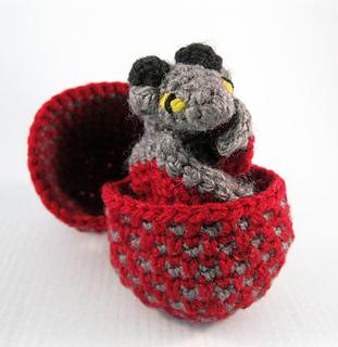 Amigurumi Dragon Egg : Ravelry: Mini Pets in Eggs - Dragon Hatchling Amigurumi ...