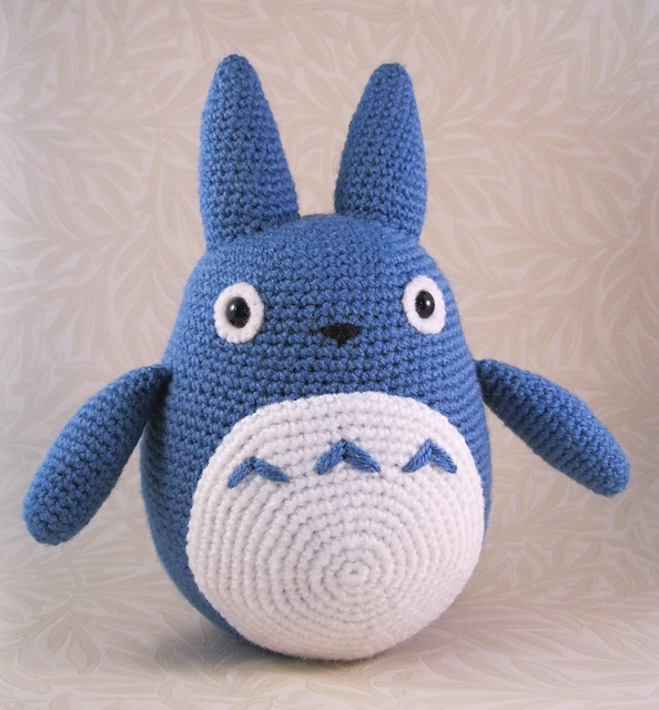 Ravelry: Blue Totoro Amigurumi pattern by Lucy Collin