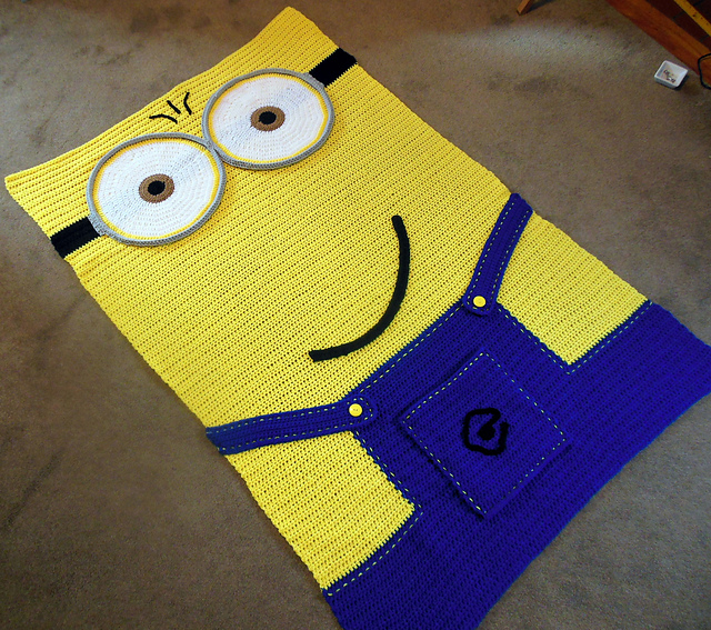 Ravelry childs crochet minion inspired afghan pattern by lucy barnes ccuart Choice Image