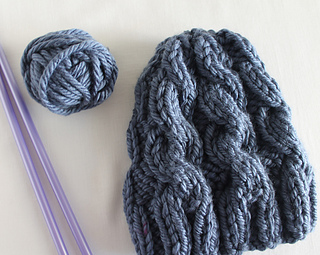 Chunky Cable Knit Hat Pattern Free : Ravelry: Lula Louise Chunky Cable Knit Hat pattern by Lula Lousie