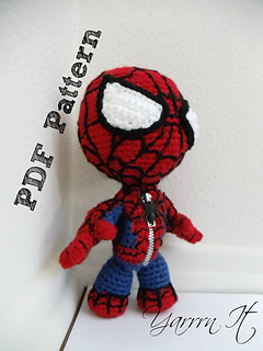 Ravelry spiderman sackboy amigururumi pattern by luciana caro luciana caro dt1010fo