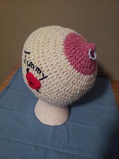 Ravelry  Adult Gag Gift Personalized Mardi Gras Boobie Breast Hat pattern  by Lulu Bebeblu 8ef7e198508