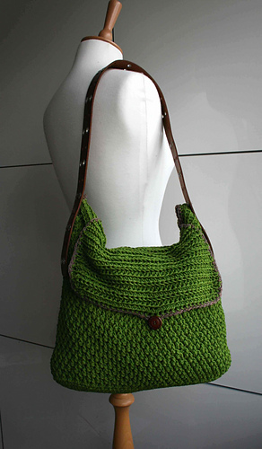 Ravelry Leather Handle Carry All Crochet Purse 178 Pattern By Luz
