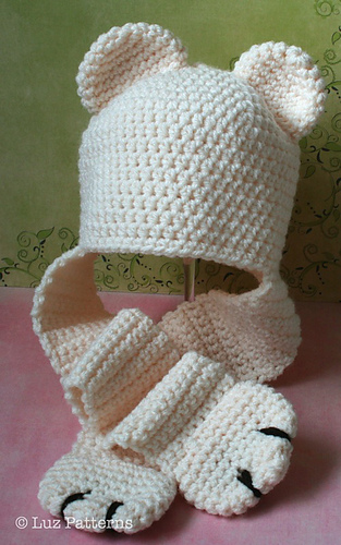 Ravelry Baby Bear Hat With Ear Warmer Paws 82 Pattern By Luz Mendoza