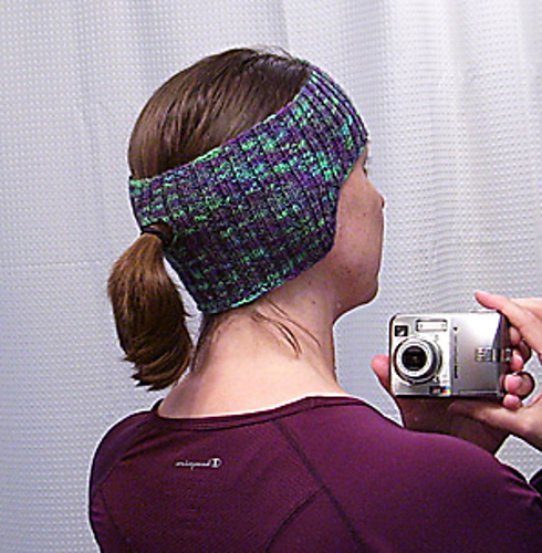 Ravelry Fitness Headbandearwarmer With Ponytail Hole Pattern By