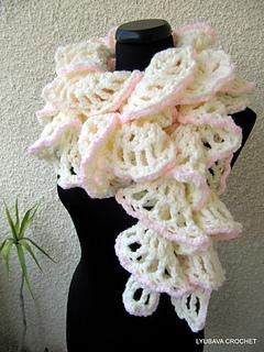 Ravelry Chunky Crochet Ruffle Scarf Winter Honeymoon Pattern By