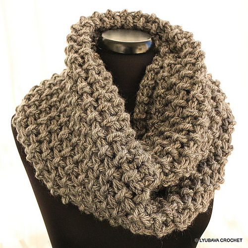 Ravelry Chunky Crochet Circle Scarf Unisex Pattern By Lyubava Crochet