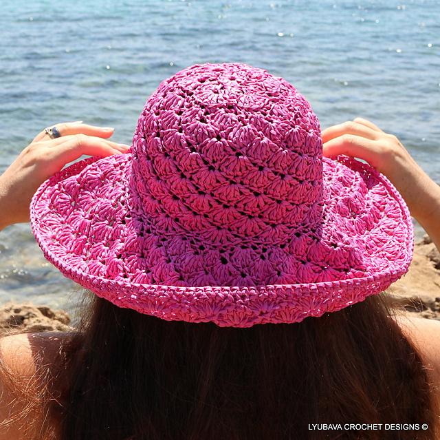 Ravelry Shell Stitch Summer Hat Pattern By Lyubava Crochet