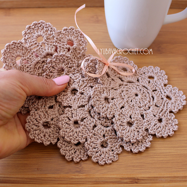 Ravelry Coasters Flower 7petals Pattern By Lyubava Crochet