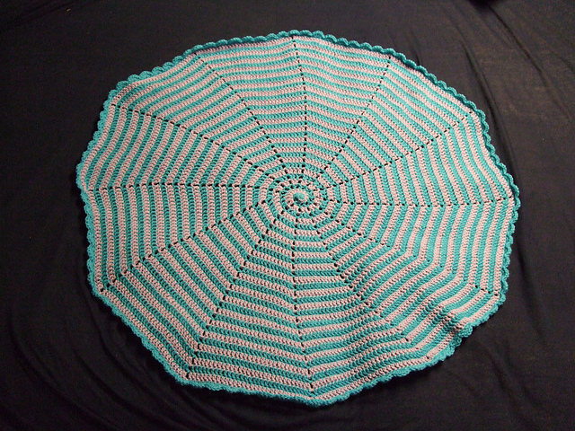 Ravelry Spiral Baby Blanket Pattern By Amber Of Cthulhu Crochet