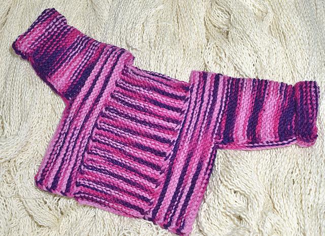 Ravelry Modular No Sew Baby Sweater Pattern By Cynthia Spencer