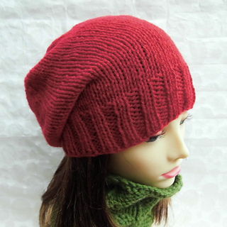 3cb161fcc20 Ravelry  CHARLEY Simple Slouchy Beanie Knit Straight pattern by Made ...