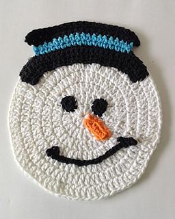 Ravelry: Snowman Dishcloth pattern by Maggie Weldon