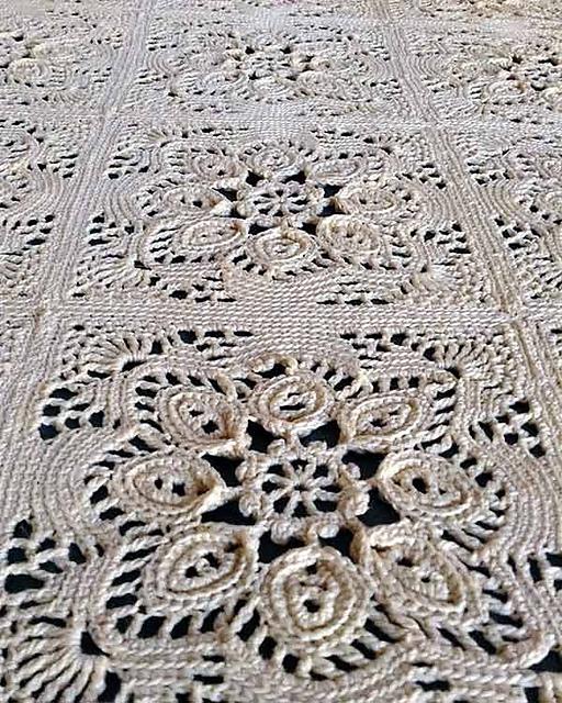 Ravelry Provincial Crochet Bedspread Pattern Pb094 Pattern By