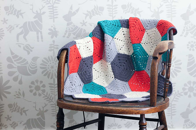 Ravelry: Happy Hexagons Afghan pattern by Jess Coppom