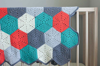 Ravelry Happy Hexagons Afghan Pattern By Jess Coppom