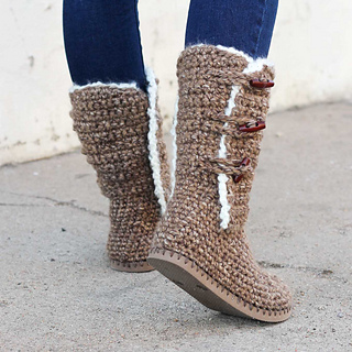Ravelry Breckenridge Boots With Flip Flop Soles Pattern By Jess Coppom