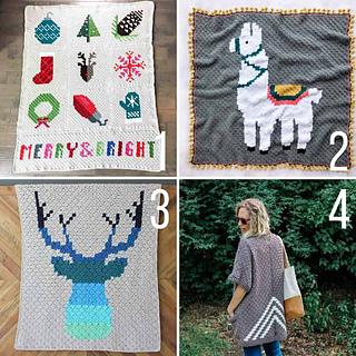 Ravelry: C2C Bunny Rabbit Blanket pattern by Jess Coppom