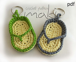 Ravelry Flip Flop Key Chain Pattern By Craftylady