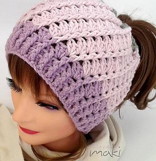 Ravelry Aliz Messy Bun Hat Pattern By Craftylady