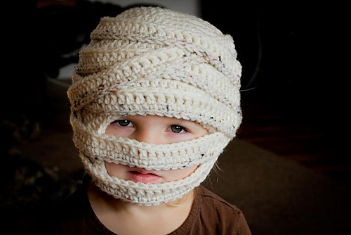 Ravelry Mummy Halloween Hat Sizes 6 Mo To Lg Adult Pattern By