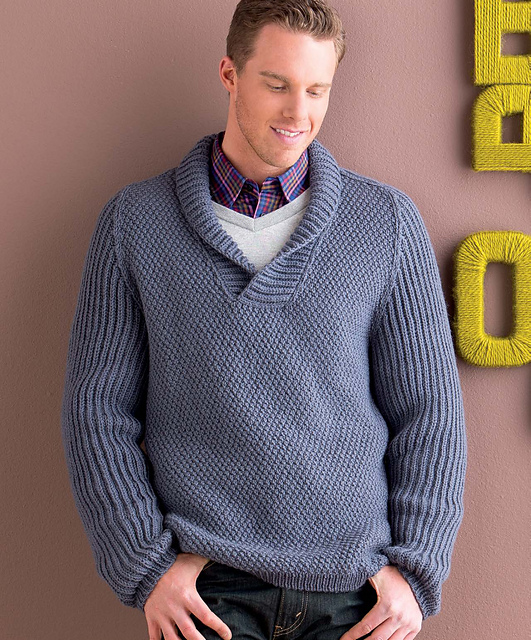 Ravelry Mens Shawl Collar Pullover Pattern By Mercedes Tarasovich