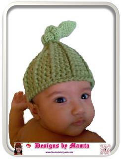 1604db96d81c1 Ravelry  Top Knot Beanie Pixie Elf Hat pattern by Mamta Motiyani