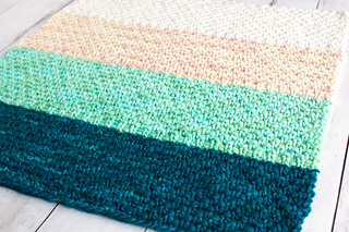 407ef257c3a Ravelry  Simple Bulky Moss Stitch Baby Blanket pattern by Fairmount ...