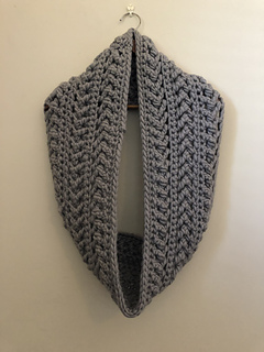 Herringbone Haze Infinity Scarf pattern by Mari Koeck